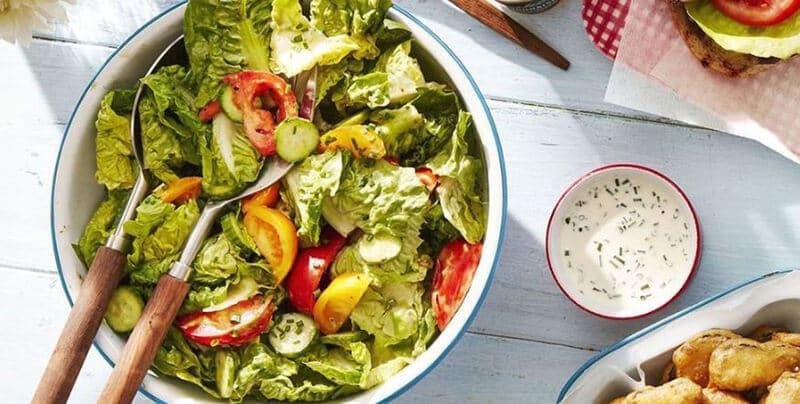 Tossed Salad With Green Goddess Dressing
