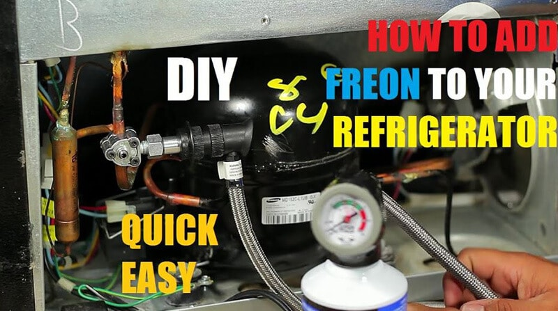The Way to Recharge Freon to Fix a Refrigerator