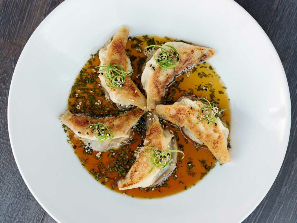 Chicken Pot Stickers at Cheesecake Factory