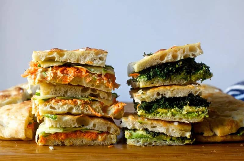 Focaccia sandwiches for crowd