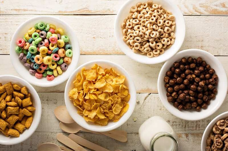 What is in the cereal