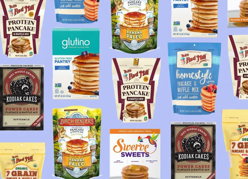 How can dietitians select the greatest store-bought pancake mixes?