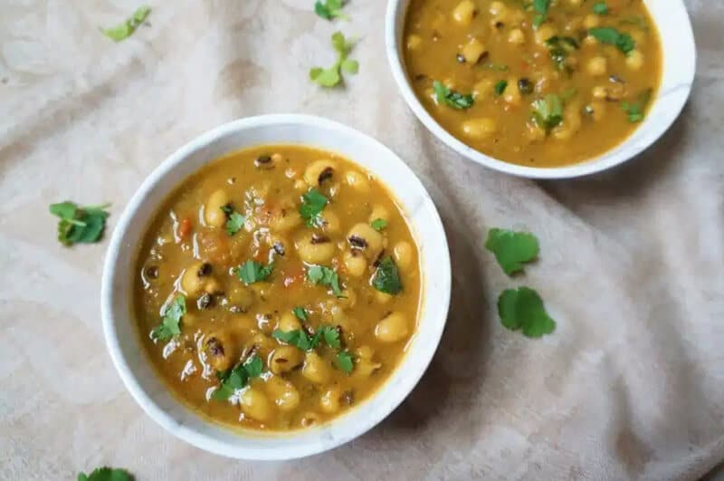 Immediate Pot Black Eyed Peas Curry