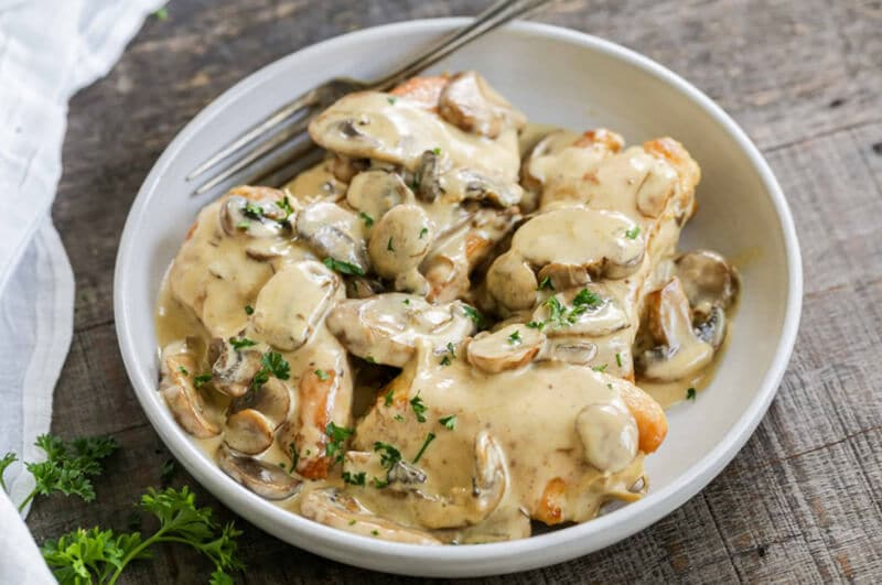 Immediate Pot Creamy Chicken With Mushrooms