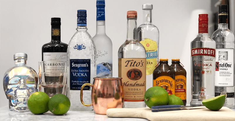 Top Rated Best Vodkas For Moscow Mule
