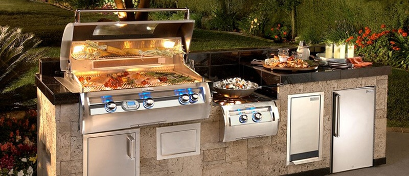 built in gas grill with service