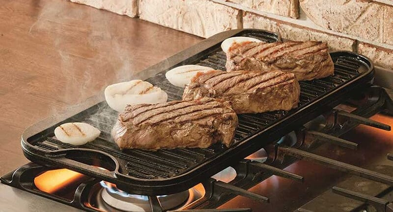 cast iron griddle for gas stove