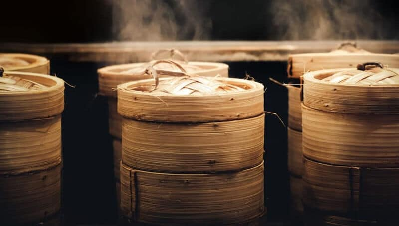 food bamboo steamer