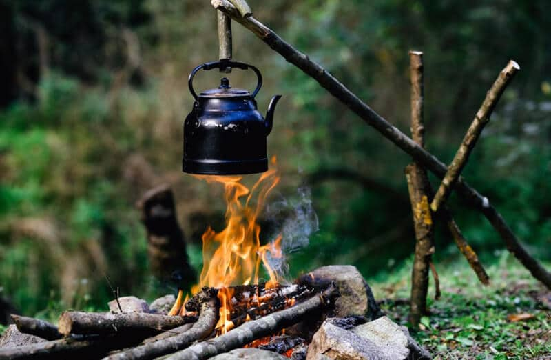 stainless camping tea kettle