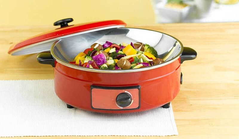top electric ceramic skillet