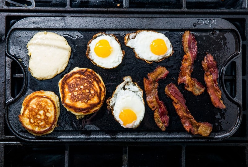 way to clean cast iron griddle