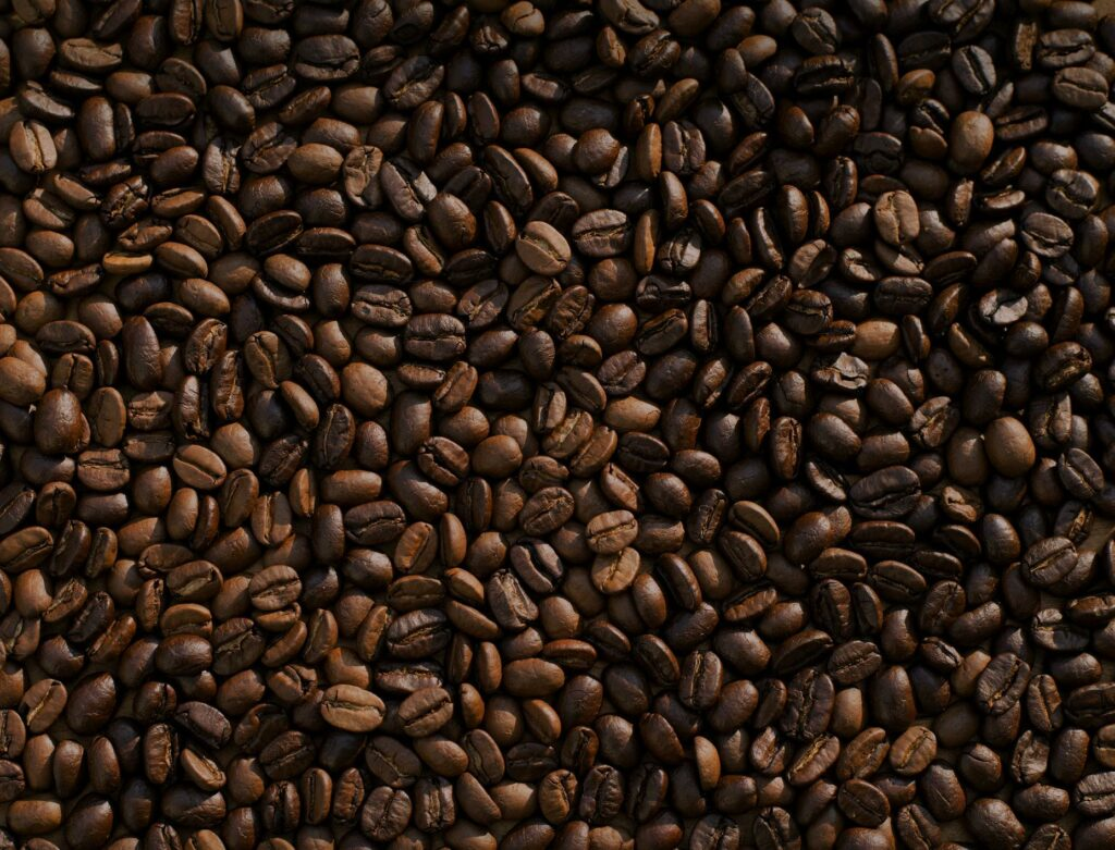 Different types of coffee beans from Ethiopia.