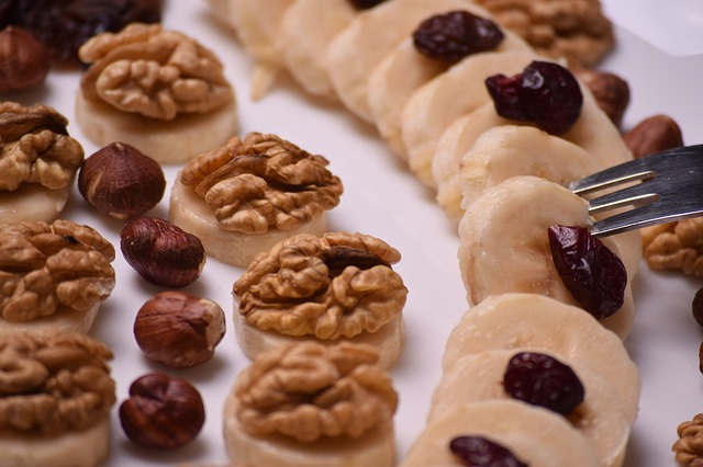 Dried cranberries on sweets