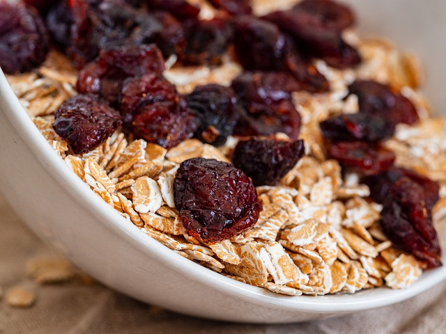 Dried cranberries are very tasty