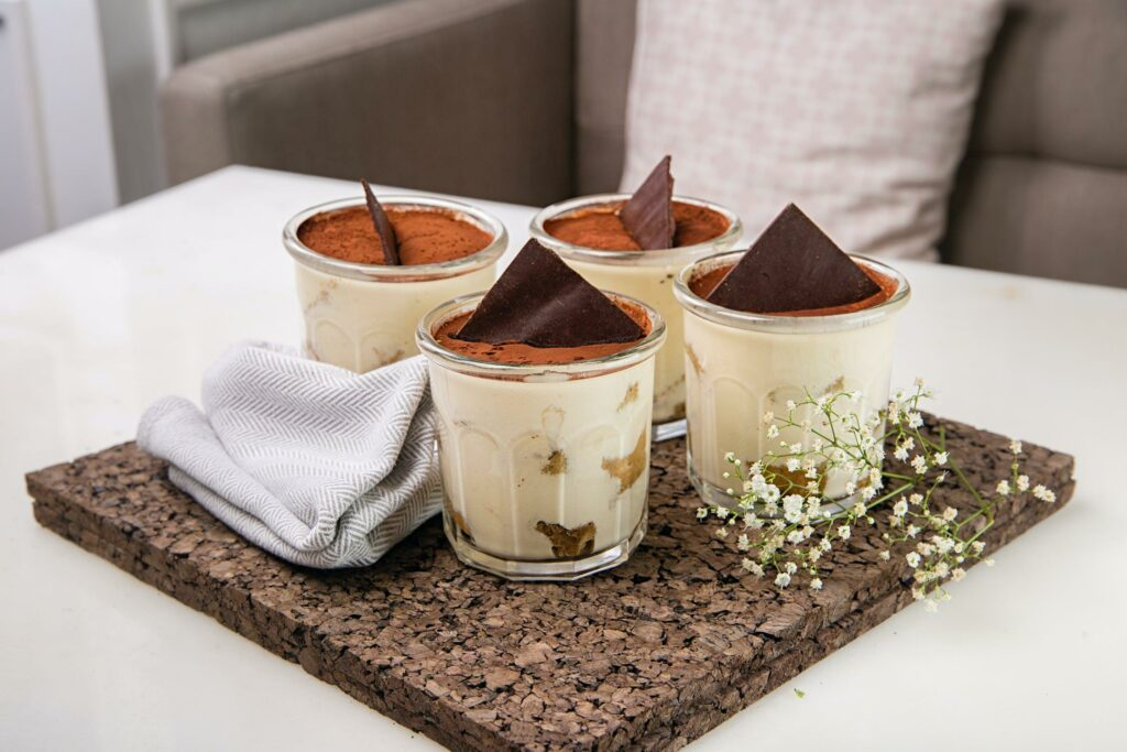 Delicious mousse made from authentic Ethiopian filter coffee.