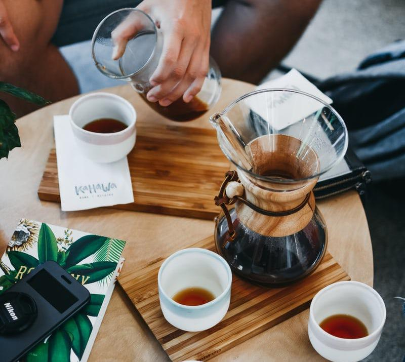 Try out the delicious Kahawa Ethiopian coffee brew.